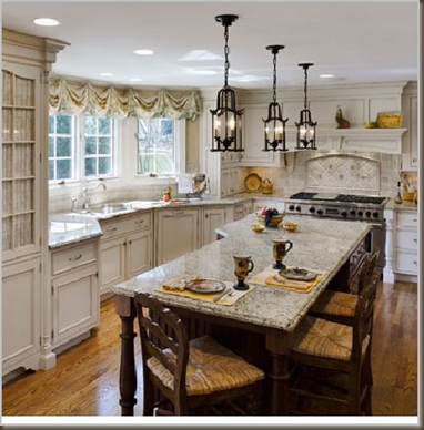 One Pendant Light Over Kitchen Island